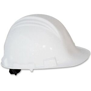 North by Honeywell White Peak A79 HDPE Cap Hard Hat 4 Point Ratchet Suspension