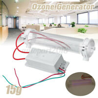 15g/h Ozone Generator Ozonator Ionizer Tube Home Office Air Purifier Clean