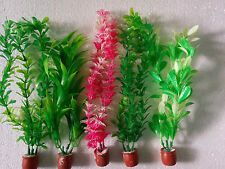 """Aquarium Artificial / Plastic Plant 5 in 1  for Decoration - 10"""" Height"""