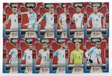 2018 Panini Prizm FIFA World Cup BLUE RED Wave Team Set ENGLAND (12 Cards)