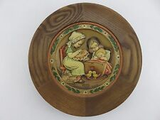 Anri by Ferrandiz MOTHER'S DAY Wood Carved Collector's Plate 1972 Made In Italy