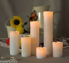 6pc LED Flameless Candles Flickering Effect faux Wax Drip 2'-9' Battery included