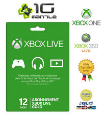 Abonnement XBOX 360/ONE (S) Live 12 mois (1 AN) GOLD France & Europe
