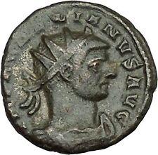 AURELIAN receiving globe from nude Jupiter 272AD  Ancient Roman Coin  i39578