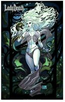 "LADY DEATH ZODIAC ART PRINT ""AQUARIUS"" Signed by BRIAN PULIDO and NEI RUFFINO"