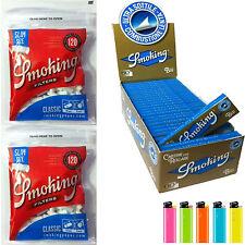 Cartine Smoking Blu CORTE 1 Box 50 Libretti + 3000 Filtrini Smoking Slim 6mm