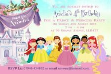 personalised princess Birthday Party Children's Invitations or matching thankyou