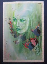 1977 Original David Saunders Painting Titania on Chinese Propaganda Poster 李凤兰春锄