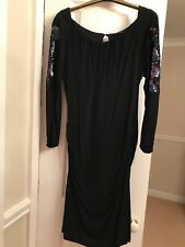 Black Evening Dress With Sequins, Coast, Excellent Condition, Worn once, Size 12