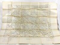 1940 Antico Map India Kashmir Jammu Gilgit Agenzia Militare Britannico Empire