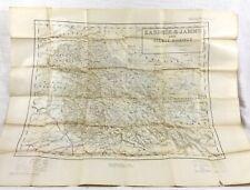 1940 Antique Map of India Kashmir Jammu Gilgit Agency Military British Empire