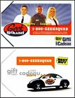 2x BEST BUY GEEK SQUAD TEAM VW VOLKSWAGON BILINGUAL COLLECTIBLE GIFT CARD LOT For Sale
