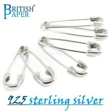 NEW 925 STERLING SILVER SAFETY PIN PUNK GOTHIC EARRINGS EMO GOTH ZIP PAPER CLIPS