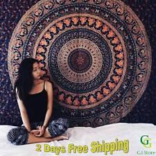 Indian Elephant Mandala Tapestry Hippie Wall Decor Hanging Trow Gypsy Bedspread