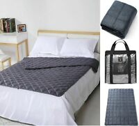 New Weighted Blanket Gravity Blankets Soft Breathable Sleep Sofa Reduce Anxiety