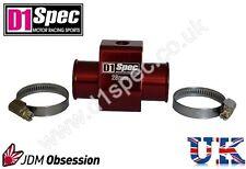 D1 Spec la temperatura del agua Calibre conjunta Pipa Sensor Adaptador 28mm Rojo Jdm Racing