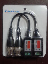 2 x CCTV CAMERA PASSIVE VIDEO BALUN BNC CONNECTOR COAXIAL CABLE ADAPTER DVR UTP