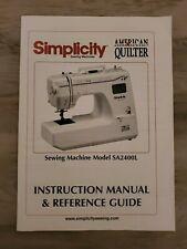 Simplicity Model #Sa2400L Instruction Book