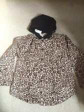 H&M Womens Jacket With Hoodie, Size Uk16, Animal Print, New