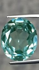 Oval Syn Spinel pastel GREEN 14x12mm Gem Loose Stone Jewel Paraiba-like