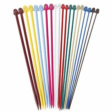 Set of 20Pcs 2.0-6.5mm Plastic Knitting Needles 10 Marked Sizes
