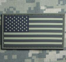 USA US FLAG RUBBER PVC TACTICAL ISAF ARMY MORALE MILSPEC ACU DARK VELCRO PATCH