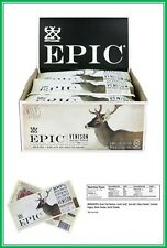 Epic All Natural Meat Bar 100% Grass Fed Venison Sea Salt  Pepper 1.5 ounce