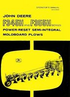 John Deere F345H F355H F 345H 355H Moldboard Plow Operators Owner Manual JD
