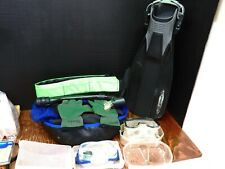 Snorkeling Package Fins, Masks, Snorkel, Dive Boots, Gloves & Dive Belt & Bag