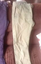 Pantaloni Eleganti Casual Chino RIVER ISLAND verdi UK E H&M neri
