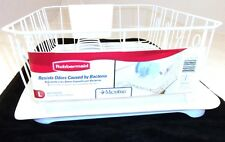 RUBBERMAID SINK LARGE DISH DRAINER 6032-AR & TRAY MAT BOARD 1182-MA WHITE NEW
