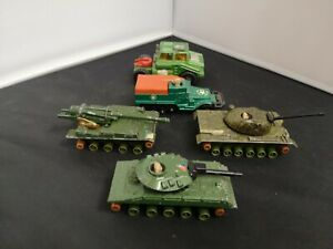 M16-MATCHBOX BATTLE KINGS LOT OF FIVE ARMY TYPE VEHICLES