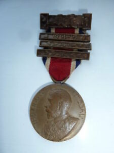 London County Council- Industry & Conduct Medal - 1914/15. 3 Bars. King's Medal