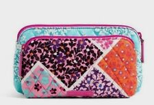 VERA BRADLEY~Double Zip Cosmetic~MODERN MEDLEY~PINKS~Double Compartment~NWT!