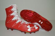 UNDER ARMOUR UA HIGHLIGHT MC FOOTBALL CLEATS MEN'S SIZE 12 RED WHITE 1269693-611