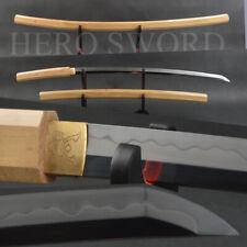 NEW Clay Tempered T1095 Steel Japanese Octagonal Shirasaya Samurai Katana sword