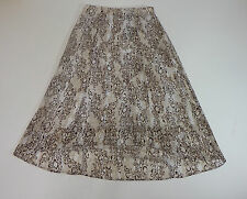Womens Skirts Investments Casual high low Animal Print Brown size 8