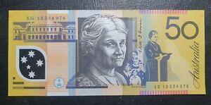 2013 Australian $50 banknote EG