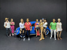 """PARTYGOERS"" 9 PC FIGURE SET 1/24 AMERICAN DIORAMA 38321,22,23,24,25,26,27,28,29"