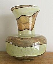 Mdina Maltese Sandy 'Earthtones' glass vase signed 16cm