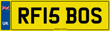 RF IS BOSS NUMBER PLATE INITIALS CAR REG RF15 BOS FEES PAID RICK ROB RYAN ROGER