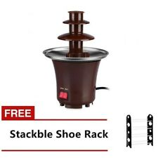 Mini Chocolate Fountain with Stackable Shoe Rack