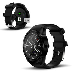 Bluetooth Compatible 1.3-in SmartWatch by Indigi (44mm Face + WiFi + GPS) Black