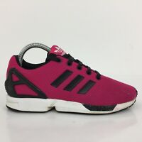 Adidas ZX Flux Pink Textile Trainers Sneakers M19387Women Size UK 5 Eur 38