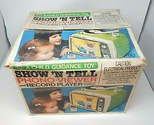 Vintage 1960's General Electric Show N Tell Phono Viewer with Stories