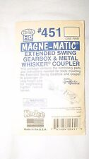 Kadee 451 HO Scale Extended Swing Gearbox & Whisker Coupler New in Package