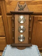 New listing Vintage Wood Verichron Weather Station Thermometer Barometer Eagle Usa 19� X 9�
