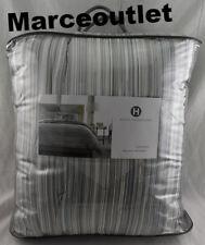 Hotel Collection Diamond Stripe KING Comforter & KING Shams Set Grey