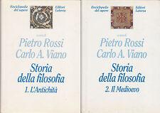 Rossi, Carlo Viano. Storia della filosofia: L'Antichità e il Medioevo. Laterza