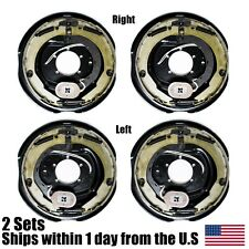 """(4) New 12"""" x 2"""" electric trailer brake assembly pair set for 7000 lbs axle -210"""